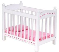 Wooden Bubbadoo Doll Bed Barbie Cot Play Set Girls Toy