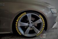 "Speedhunters 8xyellow permanent Tire Sticker 14""-24"" Lettering choose 25-31-38mm"