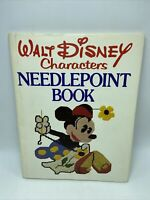 Walt Disney Characters Needlepoint Book 1976 Hardcover Dustjacket First Edition