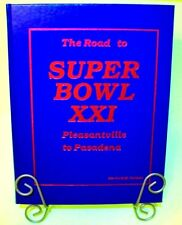 "Vtg 1987 NFL Football NY GIANTS ""The Road to Super Bowl 21"" Hardcover Book RARE!"