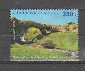 s36950 ARMENIA  EUROPA CEPT MNH** 2018 1v from booklet BRIDGES PONTI