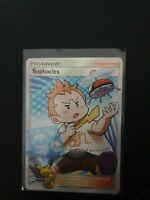 Sophocles 146/147 SM Burning Shadows Ultra Rare Full Art Holo Pokemon Card NEAR