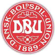 """Danish Football Association Denmark Soccer Car Bumper Sticker Decal 4.6""""X4.6"""""""