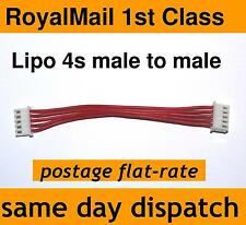 Lipo Balance Male to Male XH Plug Charger Cable Lead 4s (4 cell, 14.8V) go cart