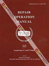 FACTORY WORKSHOP SERVICE OWNERS REPAIR MANUAL BOOK TRIUMPH TR6 TC PI