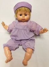 "VINTAGE HORSMAN BABY DOLL LARGE 21"" Blonde Blue Sleep Eyes Soft Body USA Toy"