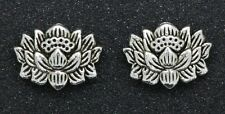 Wholesale 20pcs exquisite Tibet Silver two-sided Lotus Interval Spacer Beads