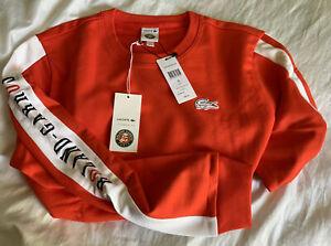 Lacoste! Gr.6 (XL) Roland-Garros Sweatshirt. Orange.
