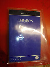 1992 CHRYSLER LEBARON SEDAN FACTORY OWNERS MANUAL OPERATORS PACKAGE