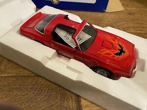 Gorgeous COLLECTOR Franklin  Mint 1977 SMOKEY & BANDIT Pontiac TRANS-AM Car RED