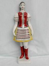 Frau in ungarischer Tracht,Hollohaza Porzellan,Handgemalt,Neu,Topzustand