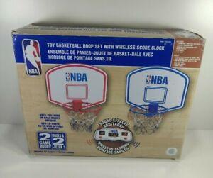 NBA Basketball Mini Hoop Electronic Set Wireless Score Clock Tested