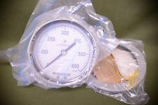 "Weksler Pressure Dial Gauge Shock Resistant 600 PSIG 4&1/2"""