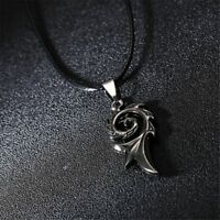 Retro Men's Stainless Steel Leather Rope Necklace Pendant Charm Jewelry Chain