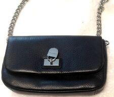 "Calvin Klien Black Cross Body Bag Small With  Chain Design Straps  23"""