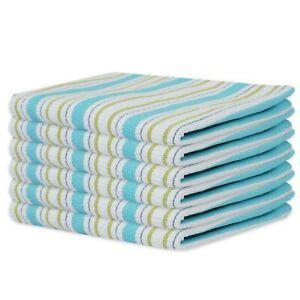 Pack of 6 100% Cotton Kitchen Towel with Hanging Loop High Absorbent 45 x 70CM