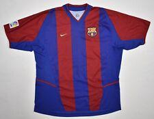 Barcelona Nike Vintage Soccer Football Home Kit Camiseta Jersey L / XL Barca