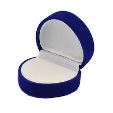 Schmuck Etui für Ring Herz Geschenkbox Schmuckverpackung blau 539