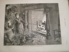 Burning the christmas decorations 1876 print ref V