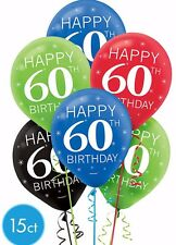 60th Birthday Celebration Latex Balloon Sixtieth Party Decoration Supplies ~15ct