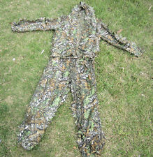 CAMO QUIET JUNGLE SPRING LEAFY 3D FAST DRY REALTREE GHILLIE SUIT CLOTHING GREEN