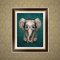 DIY Elephant 5D Diamond Embroidery Painting Cross Stitch Art Craft Home Decor