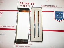 Papermate Profile Grey Ballpoint Pen &  0.9mm Pencil Set New In Box Made In Usa
