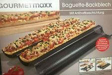 GOURMETmaxx Baguette Backblech schwarz
