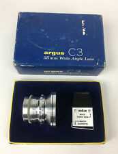 ++ Excellent * Argus Sandmar 35mm F4.5 Wide Angle Lens, with viewfinder