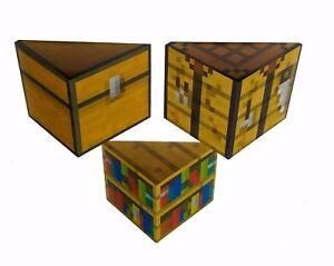 decorative wooden mine craft style shelves (handmade)