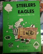 1956 STEELERS vs EAGLES Forbes Field Program & Ticket Stub AMAZING CONDITION