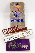 2000 HOURS TO GO CADBURY SYDNEY OLYMPIC GAMES 2000 PIN BADGE COLLECT #666