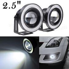 "2018 2.5"" COB LED Fog Light Projector White Angel Eye Halo Ring DRL Driving Bulb"