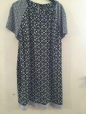 Primark grey / black patterned shift dress size 16