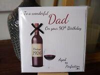 Handmade Personalised Male Wine Birthday Card 40th 50th 60th 70th 80th 90th Dad