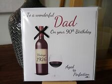 Handmade Personalised Male Wine Birthday Card 40th 50th 60th 70th 80th 90th Dad