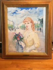 """French Impressionist Francois Gerome Oil Painting Signed """"B. Kovacs"""" (Rare)"""