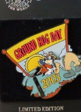 DISNEY WDW GROUND HOG DAY 2003 GOOFY 3D MOVEMENT SHADOW MICKEY MOUSE LE 2500 PIN