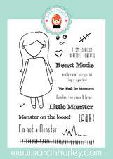 Sarah Hurley Doodle Muñeca Halloween Edition-Monster Girl