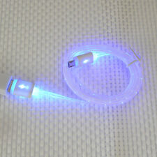 White& Original led micro charger usb cable for Samsung S6 HTC LG ANDROID NOKIA