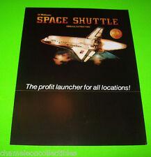 Williams SPACE SHUTTLE 1984 NOS Original Flipper Pinball Machine Sales Flyer Adv