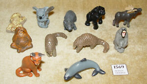 COLLECTION 11x CADBURY KIDCORP YOWIES COLLECTABLE TOY ANIMAL FIGURES SERIES 1 2
