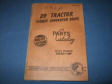 Cat Caterpillar D9 Crawler Tractor Dozer Parts Book Manual S/N 50A1-Up