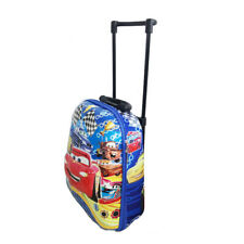 Disney Cars Mcqueen Travel Suitcase Kid Child Toddler Luggage Trolley School Bag