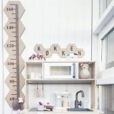 Wooden Kids Growth Chart Children Room Decor Wall Board Height Measure Ruler XA