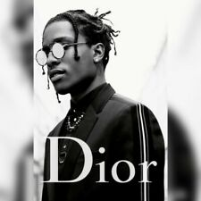 ASAP ROCKY DIOR POSTER 50 x 70 CM BLACK AND WHITE THEME