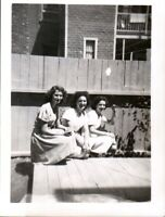 Vintage Photo, Pretty girls posing for snapshot in backyard, Montreal Quebec
