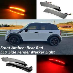 Amber/Red LED Side Marker Lights For Mini Cooper R55 R56 R57 R58 R59 R60 R61