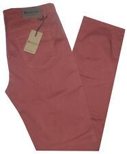 Pantalone uomo jeans HOLIDAY 46 48 50 52 54 56 58 60 cotone estivo corallo ETAN
