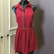 Ladakh Red Dress size 8 collar sleeveless as new